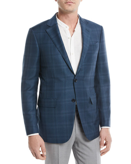 Ermenegildo Zegna Plaid Trofeo® Wool Sport Coat