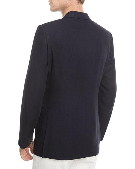 Ermenegildo Zegna Wool Houndstooth Two-Button Jacket