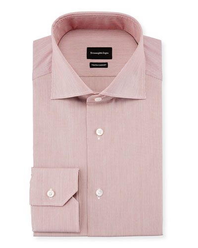 Trofeo Comfort Hairline Striped Dress Shirt