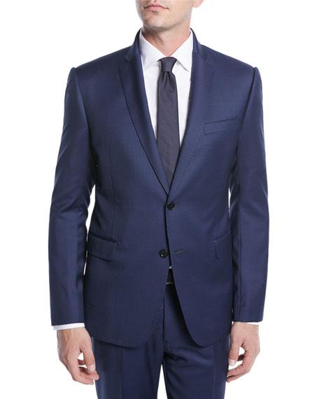 Men's Micro-Weave Wool Two-Piece Suit