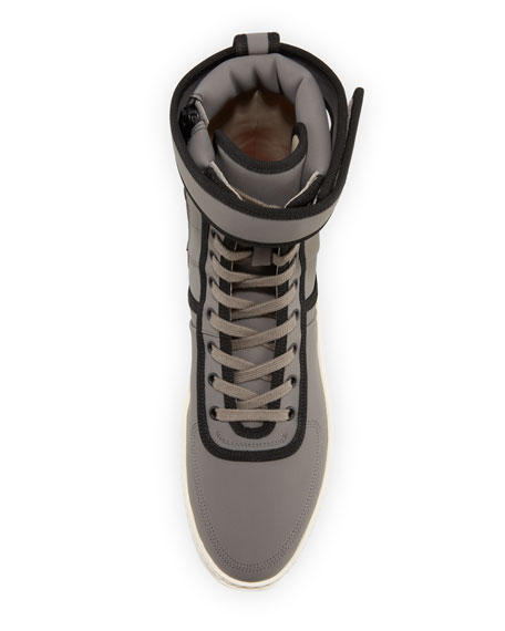 Leather High-Top Military Sneaker