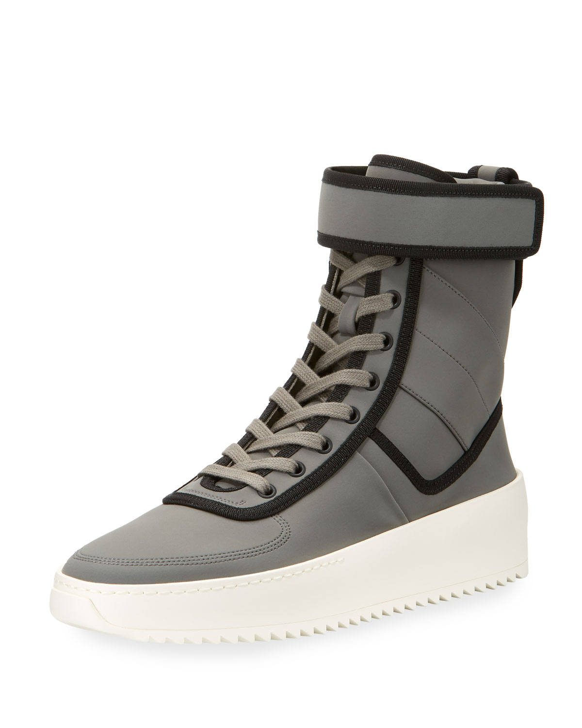 f91362f0f841 Fear of God Men s Leather High-Top Military Sneakers