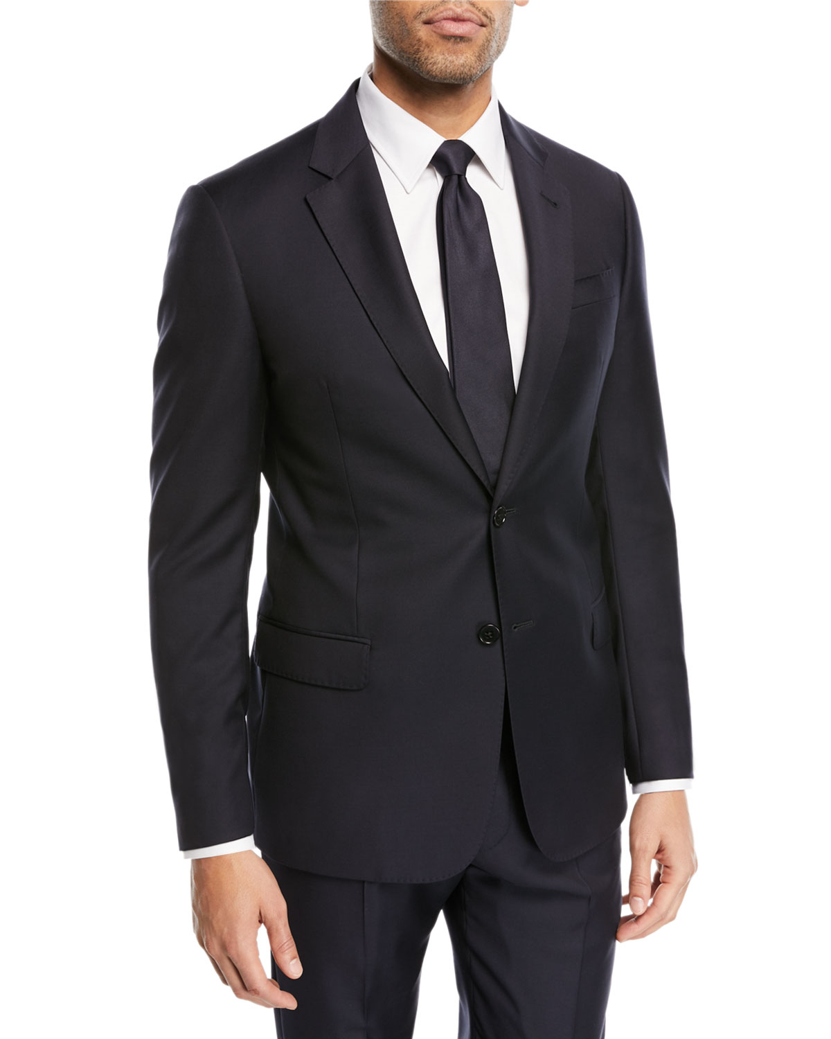 Super 130s Wool Two Piece Suit by Emporio Armani