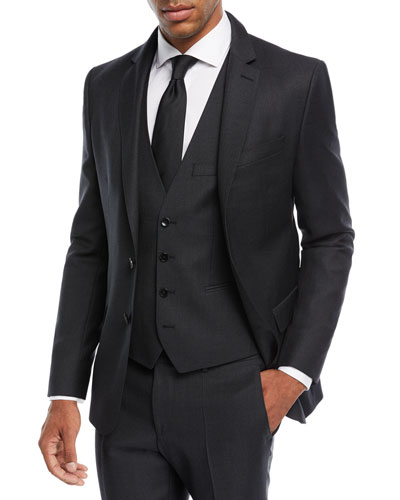 Herringbone Wool Three-Piece Suit