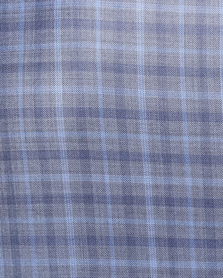 Emporio Armani Plaid Wool Two-Button Jacket
