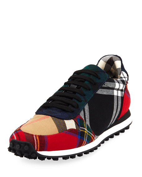 Burberry Travis Tartan Lace-Up Sneaker