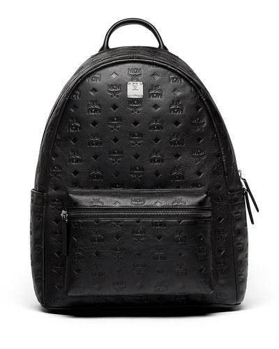 Ottomar Men's Logo-Embossed Leather Backpack