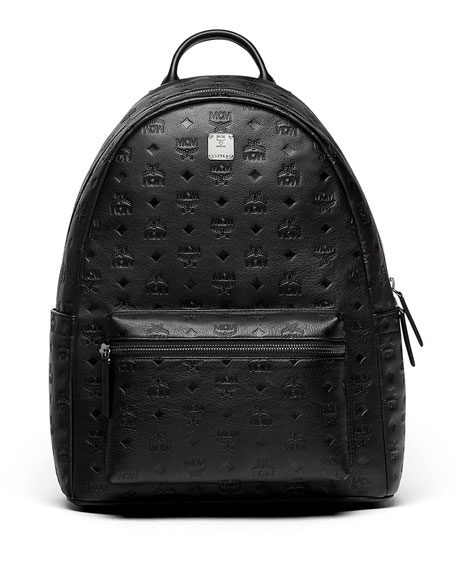 MCM Ottomar Men's Logo-Embossed Leather Backpack