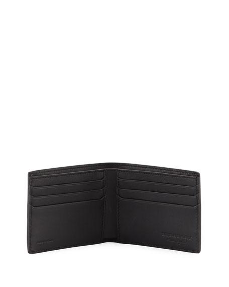 Hip Splatter-Print Bi-Fold Wallet, Black