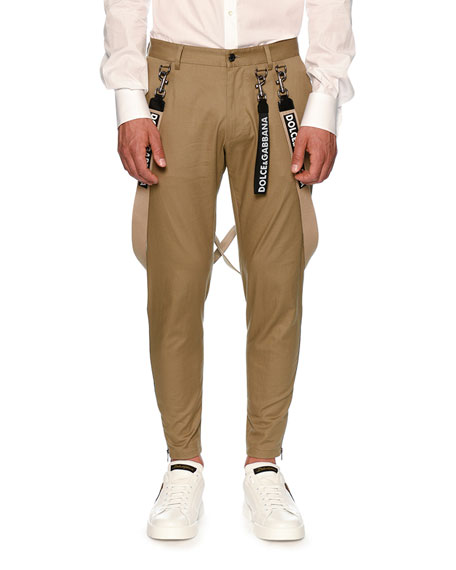 Dolce & Gabbana Cargo Trousers with Suspenders