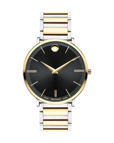 Men's Ultra Slim Two-Tone Watch
