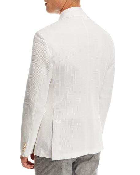 Waffle Jersey Soft Jacket, White