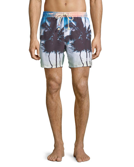 Sol Angeles Off Tropic Palm Tree Swim Trunks