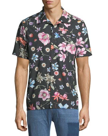 Beach Bouquet Short-Sleeve Sport Shirt