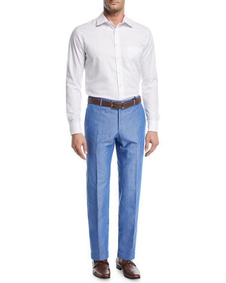 Cotton/Linen Slub Trouser Pants