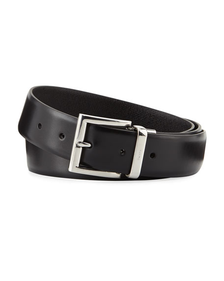 "Prada 1.3""W Reversible Vitello Luxe Belt"