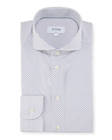 Eton Contemporary Dot-Print Cotton Dress Shirt