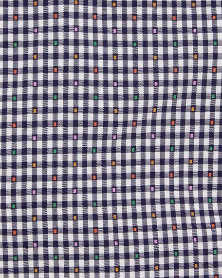 Slim Checked Cotton Dress Shirt