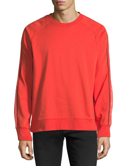 Men's Striped-Sleeve Sweatshirt