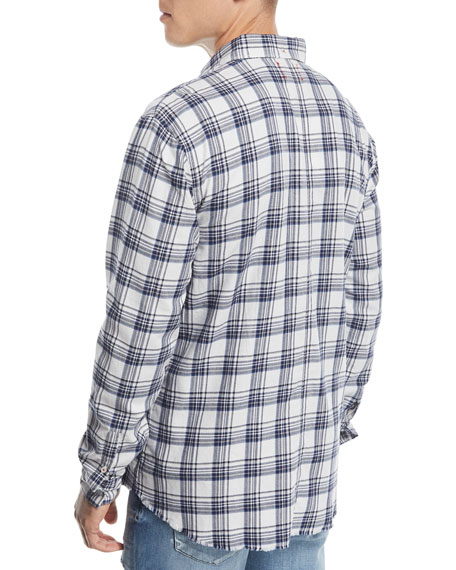 Men's Seattle Brushed Plaid Sport Shirt