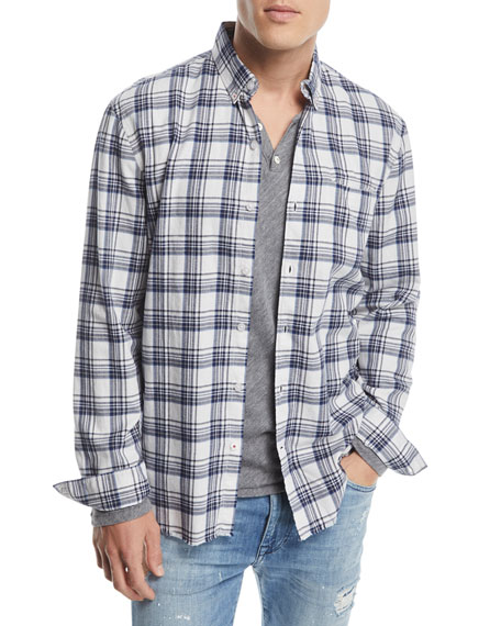 Joe's Jeans Men's Seattle Brushed Plaid Sport Shirt