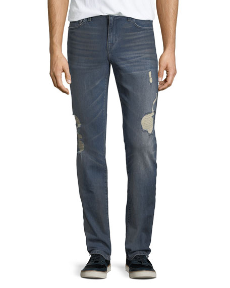 Joe's Jeans Men's Slim-Fit Distressed Jeans, Burns (Dirty Vintage Medium Indigo)