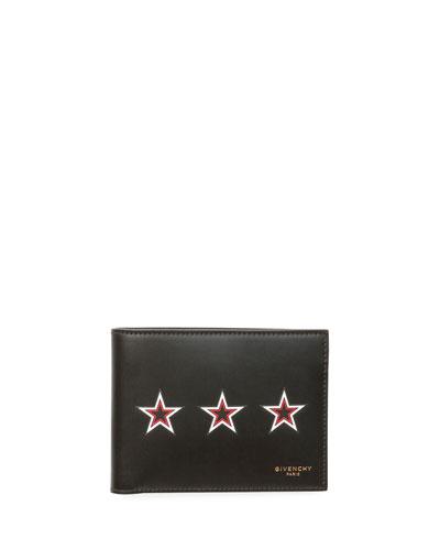 Three Star Bi-Fold Leather Wallet