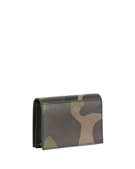 Camouflage Leather Business Card Case