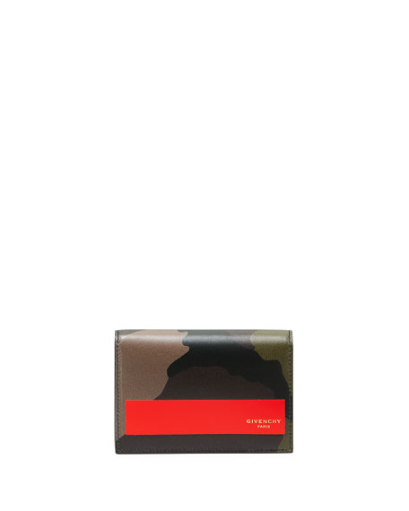 Givenchy Camouflage Leather Business Card Case