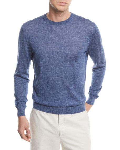Ermenegildo Zegna Cashmere-Blend Crewneck Sweater