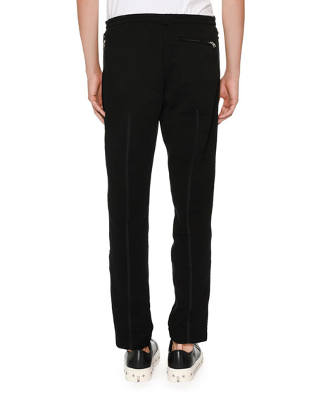 Tuxedo Pants w/ Wide Satin Stripes
