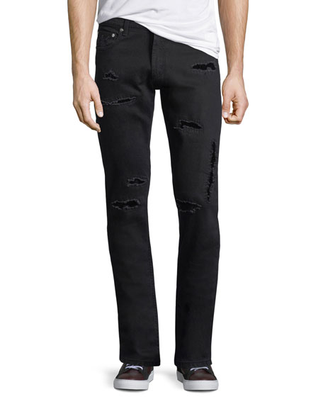 Alexander McQueen Distressed Jeans w/Velvet Patches