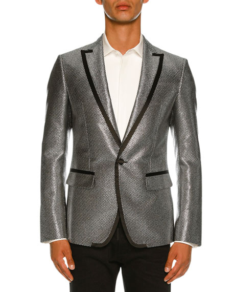 Mini Check Metallic Dinner Jacket