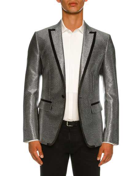 Dsquared2 Mini Check Metallic Dinner Jacket