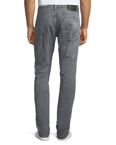 Distressed Slim-Straight Jeans