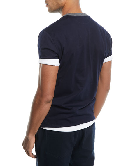 Contrast-Trim Baseball T-Shirt