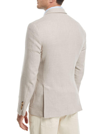 Three-Button Wool-Blend Sport Jacket