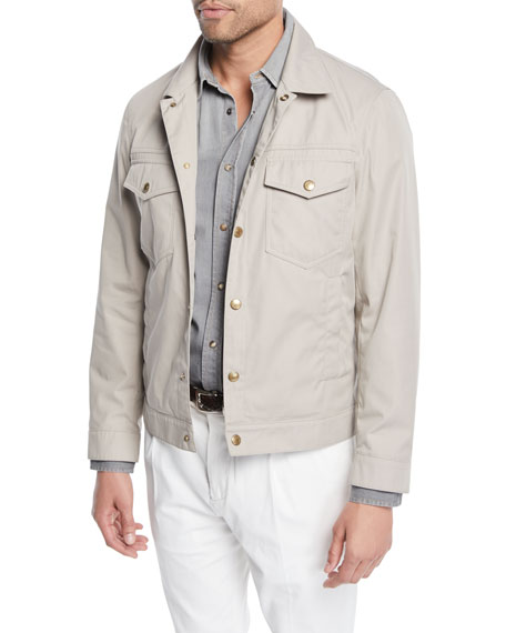 Brunello Cucinelli Men's Technical Denim Jacket and Matching