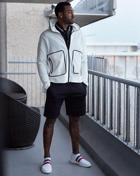 Men's Adon Mesh-Knit Stretch-Stripe Sneakers