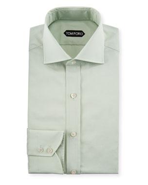 5f813f6d4e52 TOM FORD Slim-Fit Solid-Color Poplin Barrel-Cuff Dress Shirt