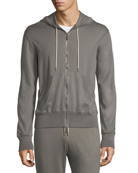 TOM FORD Cotton-Cashmere Petrol Hoodie
