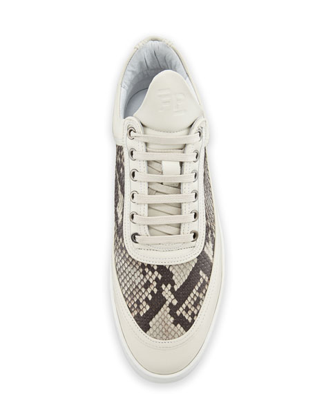Ripple Python-Trim Low-Top Sneaker