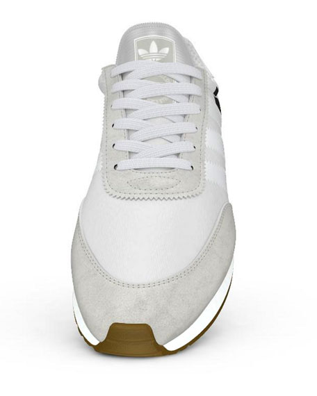 Men's Suede-Trim Neoprene Sneakers, White