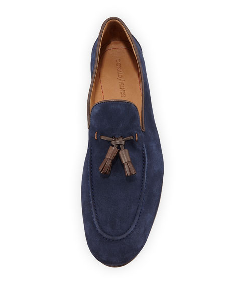 Men's Suede Leather-Tassel Slip-On