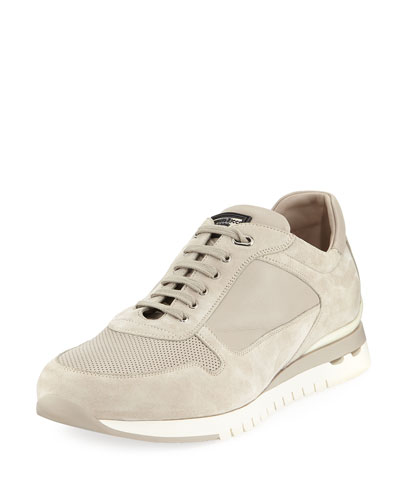 Suede and Leather Trainer Sneaker