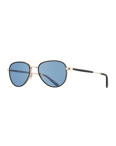 Linnie Aviator Sunglasses  Blue/Gold