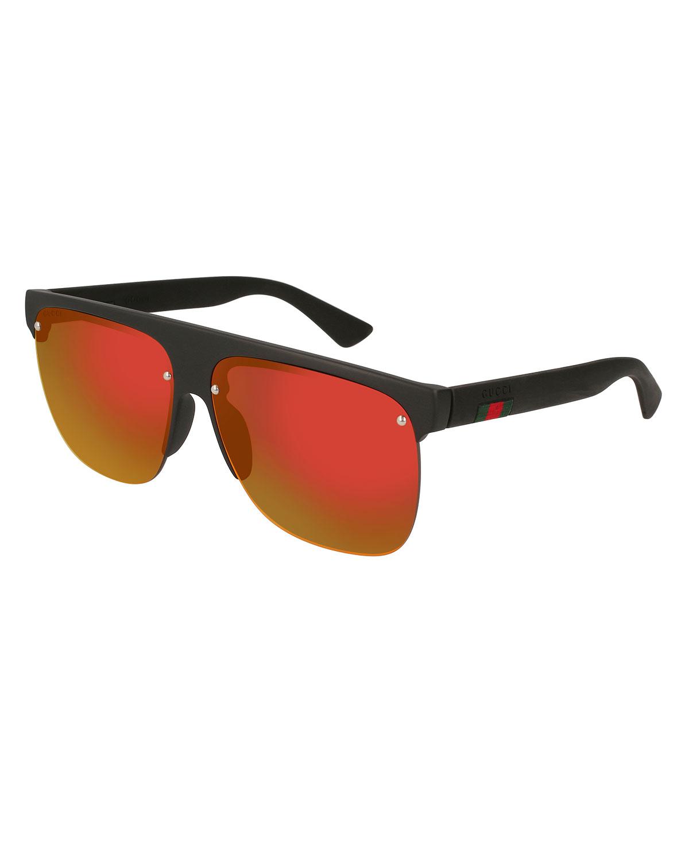 852b4c1b5d2 Gucci Polarized Square Half-Frame Sunglasses