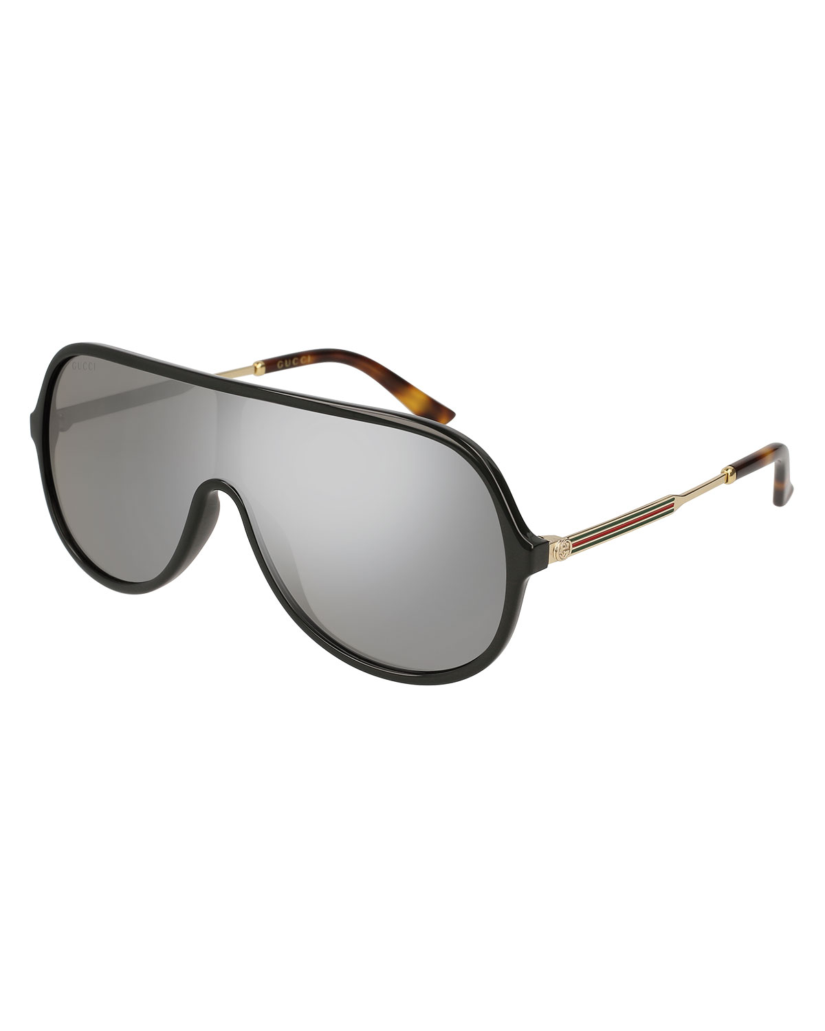 f7b92d3e753 Gucci Injected Metal Mirrored Aviator Sunglasses