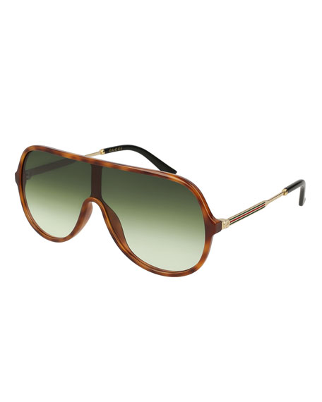 Gucci Injected Metal Aviator Sunglasses