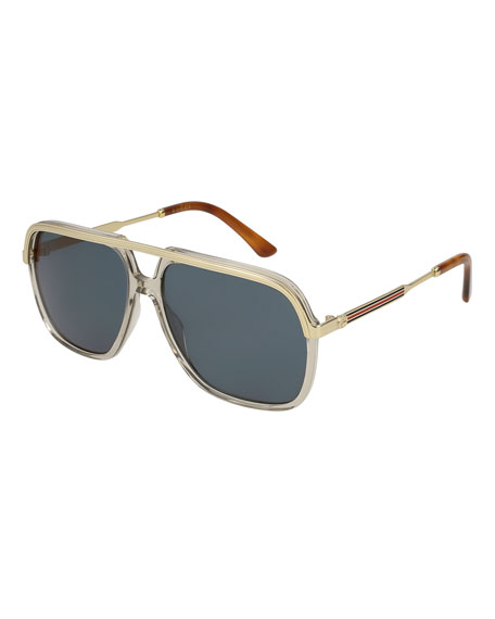 Gucci Metal-Trim Aviator Sunglasses